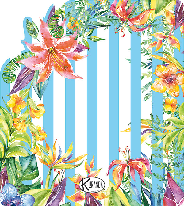 Beach Towel Telo Mare Jungle Stripes