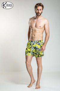 Swimsuit Yellow Wave Costume Yellow Wave