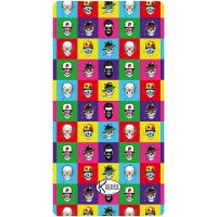 Beach Towel Telo Mare Big Skull Pop