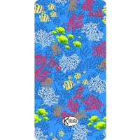 Beach Towel Blue Reef / Telo Mare Blue Reef / K-BIG-REEB