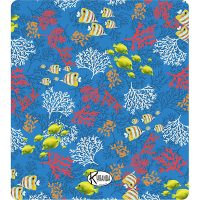 Double Beach Towel Blue Reef / Telo Mare Double Blue Reef / K-DOU-REEB
