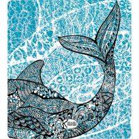 Double Beach Towel Whale / Telo Mare Double Whale / K-DOU-WHAL