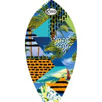 Surf Shaped Beach Towel Destructure / Telo Mare Forma Surf Destructure / K-SUR-DEST