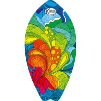 Surf Shaped Beach Towel Explosion / Telo Mare Forma Surf Explosion / K-SUR-EXPL