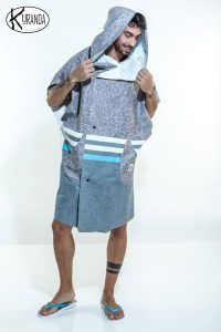 Poncho Way Gray K-PON-WAYG